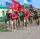 Сегодня, в преддверии 75-й годовщины Великой Победы, в деревне Большекызылбаево состоялась акция «Парад у дома ветерана».