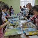 1 апреля 2021г. в Детской школе искусств преподаватель высшей категории Детской художественной школы  г. Белорецка  Арина  Яковлева провела  мастер-класс «Жидкий акрил»  для уащихся и преподавателей Деткой школы искусств. учащихся и преподавателей, провел