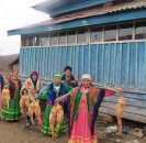 12 ноября в деревне Теляшево в доме Ахмеровой Алмабики прошел традиционный обрядовый праздник «Каз омасе».